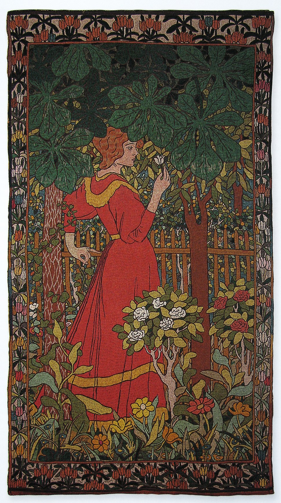 DameEnRobeRouge Rippl-Ronai 1898
