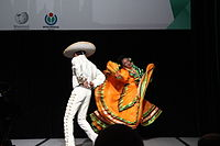 Dancing at the Wikimania 2015 Opening Ceremony IMG 7641.JPG