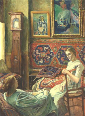 George-Daniel de Monfreid - Conversation in the Atelier.