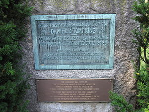 Daniel D. Tompkins - The Daniel D. Tompkins Memorial in Scarsdale, New York