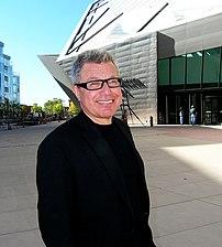 U.S. architect Daniel Libeskind in front of hi...
