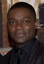 Actor David Oyelowo (l) who portrayed Martin Luther King, Jr. and Tom Wilkinson (r) who played president Lyndon B. Johnson .