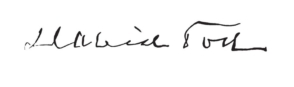 David Tod's signature