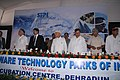 Dayanidhi Maran, the Chief Minister of Uttaranchal, Shri Narayan Datt Tiwari and the Minister of State for Commerce & Industry Shri Jairam Ramesh at the inaugural ceremony of STPI Incubation Centre at Dehradun, Uttaranchal.jpg