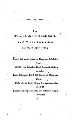 Der Tempel Der Freundschaft Wikisource