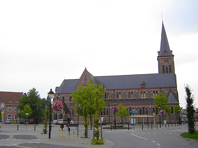 Church of Saint Nicholas of Tolentino in De Pinte. De Pinte, East Flanders, Belgium