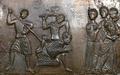 Death of Saint Adalbert of Prague, Gniezno Doors ca. 1170.png
