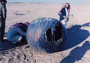 Star (rocket stage) - Saudi inspectors at the crash site of a Star-48 Payload Assist Module in January, 2001.