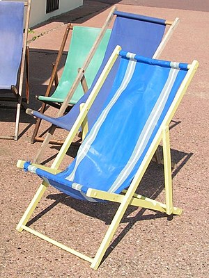 Deckchair - Traditional wood-framed and fabric deckchairs