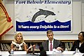 Defense.gov News Photo 100622-D-7203C-010 - Jill Biden wife of Vice President Joe Biden left Secretary of Education Arne Duncan 2nd from right and Fort Belvoir Elementary School Principal.jpg