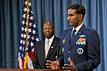 Defense.gov News Photo 101012-D-9880W-077 - Commander of Air Force Recruiting Service Brig. Gen. Balan Ayyar talks about his service s recruiting efforts during a Pentagon press briefing.jpg