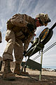 Defense.gov News Photo 110126-M-DX675-238 - U.S. Marine Corps Lance Cpl. Joseph J. Gefhard with Headquarters and Service Company 3rd Battalion 4th Marine Regiment sets up an antenna.jpg