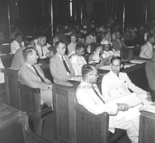 First plenary session of the Asian Regional Conference of the I.L.O. in New Delhi on October 27, 1947