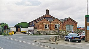 Denbigh railway station - View northward from the A525 in 1993