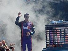 Denny Hamlin ĉe la Daytona 500.JPG