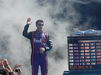 2010 NASCAR Sprint Cup Series - Denny Hamlin came in second behind Johnson by 39 points