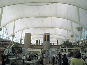 Denver International Airport, from security li...