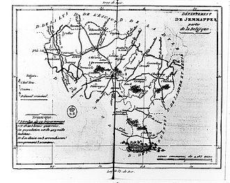 Jemmape (department) - Map of the former Jemmape department