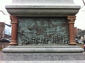 South African War Memorial (Halifax) - Image: Depart Halifax Boer War Monument Nova Scotia