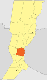 Location of San Jerónimo Department within Santa Fe Province