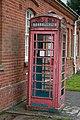 Derelict phone box at Fordingbridge Hospital - geograph.org.uk - 772171.jpg