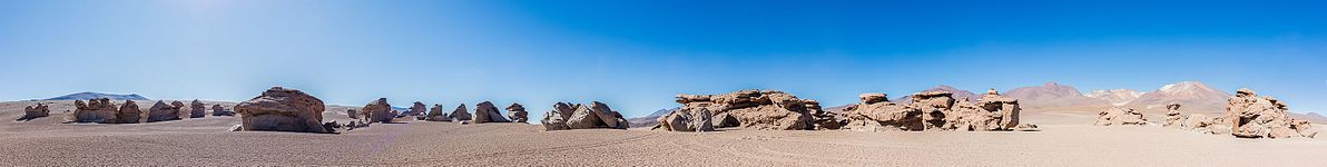 Panoramic view of the Siloli Desert, Bolivia