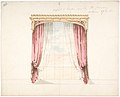 Design for Red Curtains with a Gothic Style Gold Pediment MET DP807422.jpg