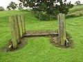 Detail from roman fort of Vindolanda 19.jpg