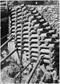 Detail of log supporting side of road at beginning of bridge - NARA - 286071.jpg