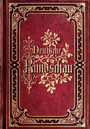 Deutsche Rundschau - Book cover of 1st edition of Deutsche Rundschau (1874) (periodical ed. by Julius Rodenberg, Berlin)
