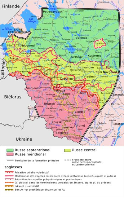 Des dialectes russes a commencé à