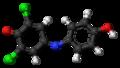 Dichlorophenolindophenol (oxidized) 3D ball.png