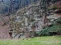 Dieser Buntsandstein entstand vor ca. 251 - 244 Mio. Jahren - panoramio.jpg