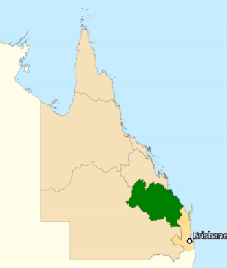 Division of Flynn - Division of Flynn in Queensland, as of the 2016 federal election.