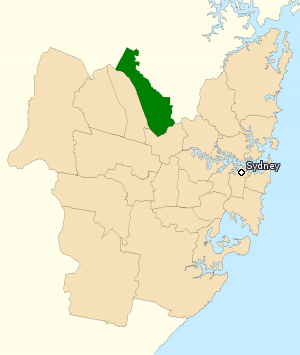 Division of Mitchell - Division of Mitchell in New South Wales, as of the 2016 federal election.