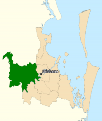 Division of Ryan - Division of Ryan in Queensland, as of the 2016 federal election.