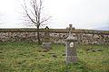 Dlhá old church gravestones.JPG