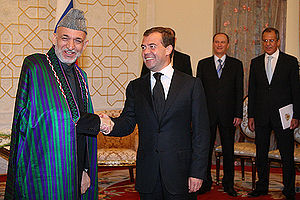 English: DUSHANBE. With President of Afghanist...