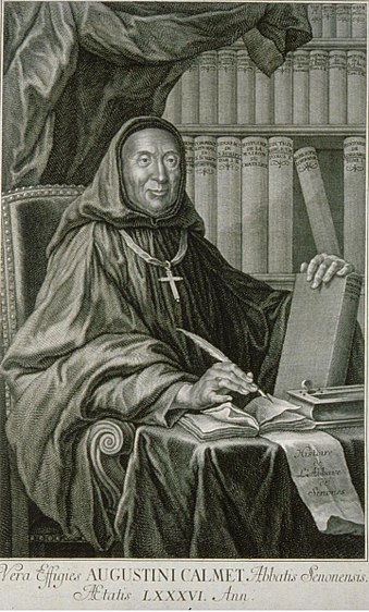 Engraving of Dom Augustine Calmet from 1750 Dom Augustin Calmet.jpeg