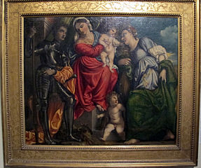 Virgin and Child, with Saints George and Catherine of Alexandria, and a Putto