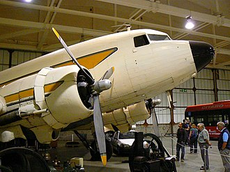 Science Museum at Wroughton - A Douglas DC3 at the museum.