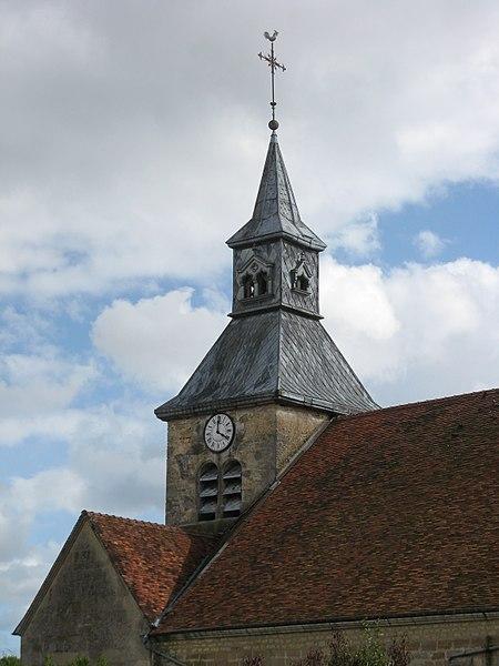 Doulevant-le-Château, clocher de l'église Saint-Louvent.