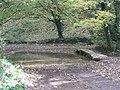 Downstream Ford and clapper bridge at Kineton - geograph.org.uk - 1556376.jpg