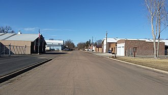 Brandon, South Dakota - Downtown Brandon looking north on Main Street, March 2015