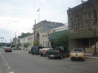 Homer, Louisiana -  Downtown Homer is centered about the Claiborne Parish Courthouse, constructed in 1860.