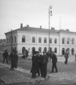Drammen station prior to second floor expansion (Skarpmoen, cropped, rotated).png
