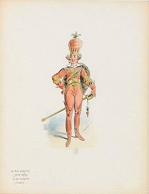 Le roi Carotte - Draner - Costume for le Roi Carotte - 1872