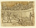 Drawing, Sketchbook Page- Tiger Killed by Emperor Commodus in Amphitheater, ca. 1590 (CH 18109667).jpg