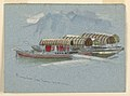 Drawing, Sketches. Pleasure Boats, Lake Lucerne, Switzerland, July 10, 1872 (CH 18368987).jpg