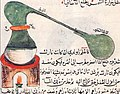Drawing and description of Alembic , by Jabir Ibn Hayyan in 8th century.jpg